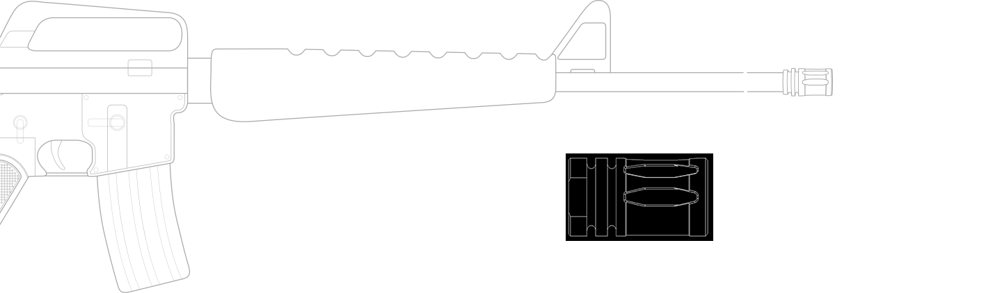 Diagram of M16 Rifle